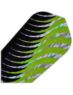 Holographic Slim black green
