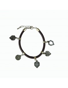 Bracelet leather 5 elements